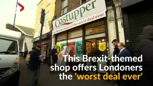 Brexit-themed pop-up store offers 'worst deal ever'