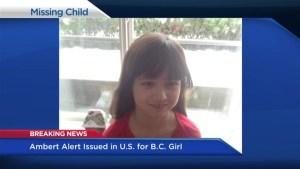 B.C. girl subject of Washington State Amber Alert