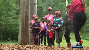 Kids enjoy Heart Heroes Camp west of Edmonton