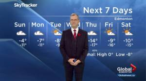 Edmonton Weather Forecast: Nov. 11