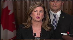 'I am disappointed': Rona Ambrose reacts to Trudeau's pipeline announcements