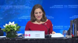 Freeland calls on North Korea to abandon its nuclear weapons program