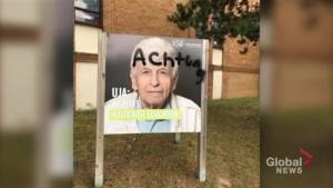 Toronto police investigating after Holocaust sign vandalized in North York