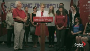 Wynne urging NDP voters to vote Liberal in order to stop Tim Hudak
