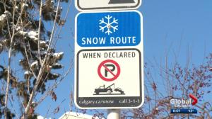 Calgary to lift snow route parking ban at 7 AM Wednesday