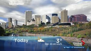 Edmonton early morning weather forecast: Thursday, October 12, 2017