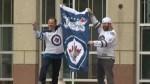 Winnipeg celebrates big win as Jets get set for Vegas