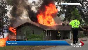 Peachland home leveled by fire