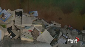 Thousands of new books tossed away outside closed 'Chapters' store