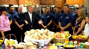 Invisible planes, water jobs and other strange things Donald Trump said in Thanksgiving speech to Coast Guard