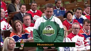 Andrew Scheer delivers remarks on the Humboldt Broncos
