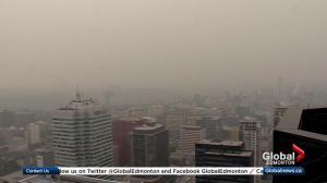 Smoky skies return to Edmonton, much of Alberta