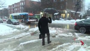 Slushy mess greets Montrealers