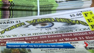 Editor of hate-filled newspaper facing jail time