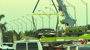 Florida university was aware of cracks in Miami bridge that collapsed hours before incident