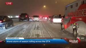 Worst storm of winter seasons rolling across GTA
