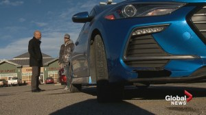 Calgary man wants drivers to remember to secure loads after striking paint can on Stoney Trail