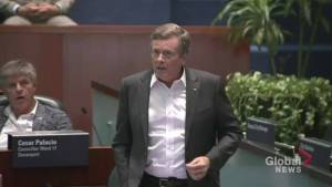 Councillors get heated at Toronto City Hall after proposed cuts announced (02:12)