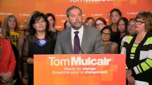 Mulcair announces plan to end violence against women