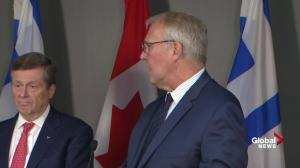 Bill Blair brushes aside Doug Ford's 'rhetoric'; says work is ongoing on asylum seekers