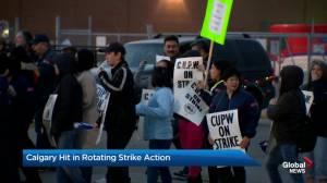 Calgary hit in rotating Canada Post union strike