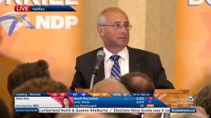 Nova Scotia election: Gary Burrill's full speech at NDP campaign headquarters (13:21)