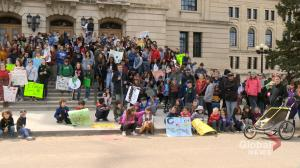 Students walk out of Saskatchewan schools in protest of climate change