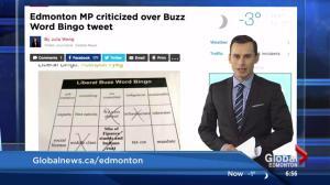 Edmonton MP criticized over Buzz Word Bingo tweet