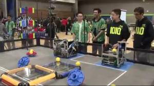 High school students compete for robotics competition at BCIT