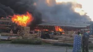 Bracebridge fire destroys decades old timber mill