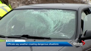 OPP officers respond to several incidents of flying ice on highways