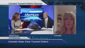 Ucluelet helps clean up tsunami debris
