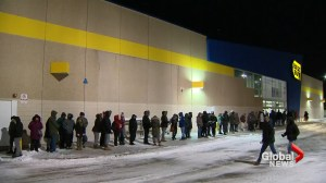 Boxing Day deal seekers brave line-ups in freezing temperatures across Canada