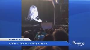 Adele scolds fans during concert