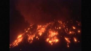 Tungurahua volcano in Ecuador spews lava