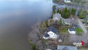 Drone video shows the extent of flooding in Saint John area