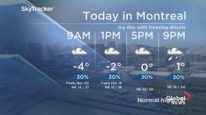 Global News Morning weather forecast: Thursday, February 7