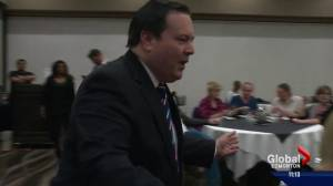 Jason Kenney speaks to Edmonton supporters in bid to become Alberta PC leader