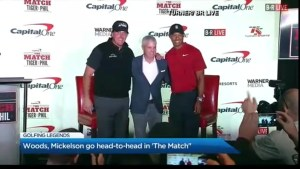Tiger Woods and Phil Mickelson go head to head