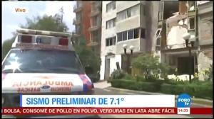 Mexican station airs video of damage to building following earthquake