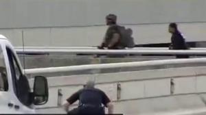 Video shows Fort Lauderdale authorities rush airport parking garage
