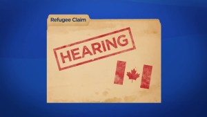 What are the steps for someone claiming refugee status in Canada?
