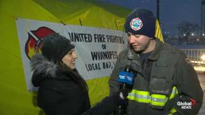 Firefighters brave the elements for annual Rooftop Campout