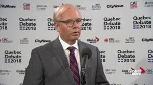 PQ Leader Jean-François Lisée calls CAQ Leader François Legault 'incompetent' after debate