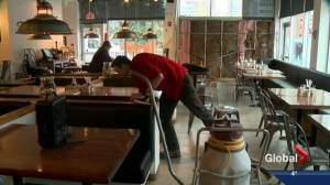 Car smashes through The Beltliner restaurant in downtown Calgary