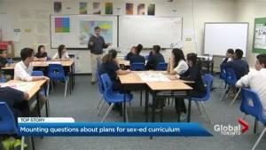 Progressive Conservatives face tough questions over Ontario sex-ed curriculum