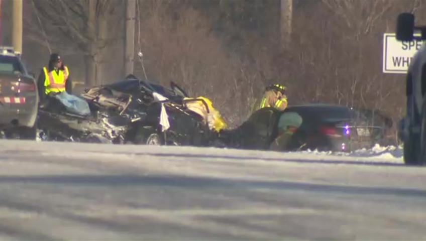 Three dead, one in critical condition after head-on crash in Pickering