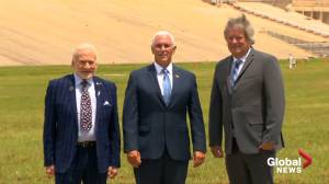 Pence visits Apollo 11 launch site with Buzz Aldrin
