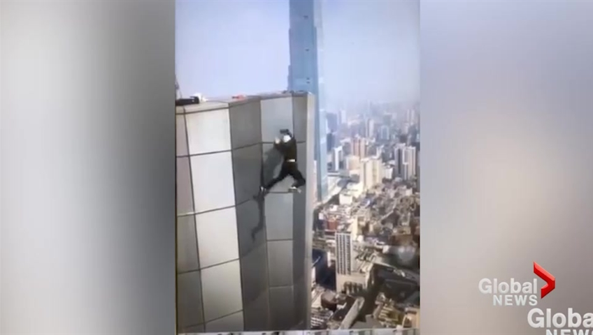 Chinese daredevil films his own death