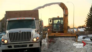Snow removal continues despite winter warm up